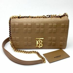 BURBERRY Small Lola Quilted Lambskin Bag